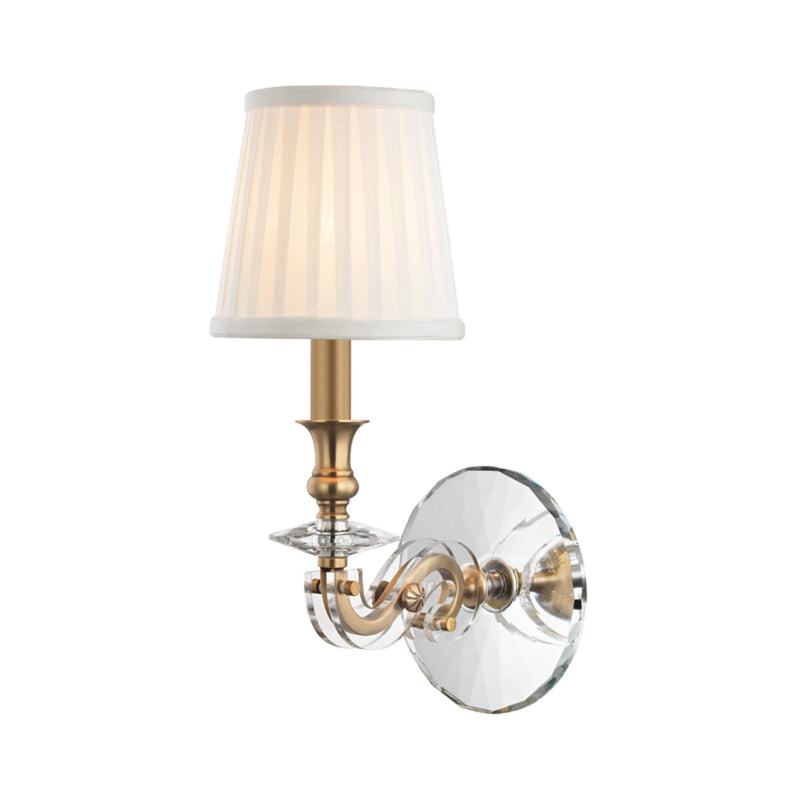 Hudson Valley Lighting 1291-AGB Lapeer 1 Light Wall Sconce in Aged Brass