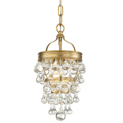 Crystorama 131-VG Calypso Mini Chandelier in Vibrant Gold