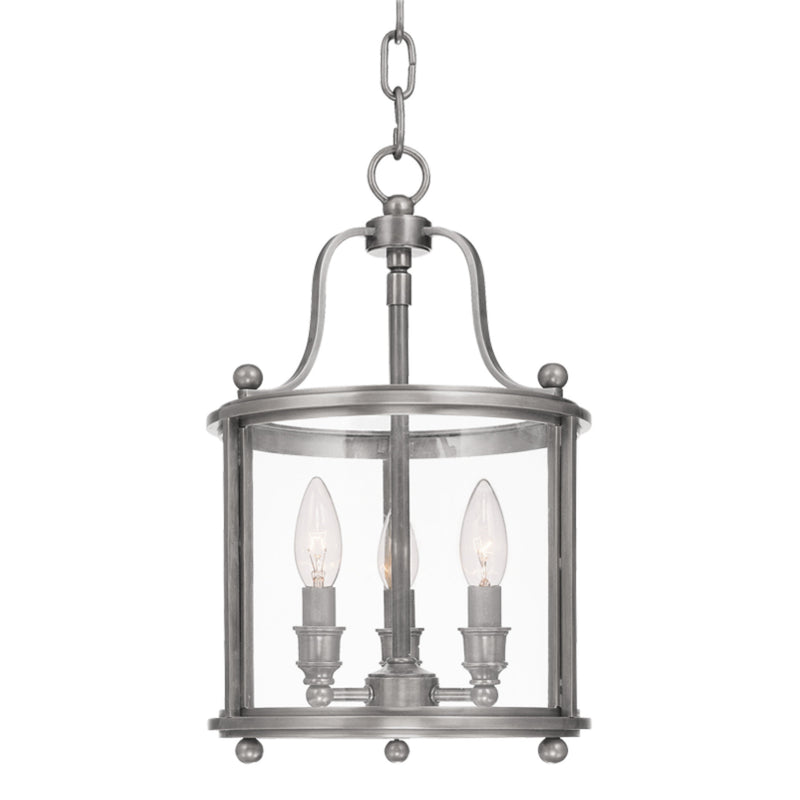 Hudson Valley Lighting 1310-AN Mansfield 3 Light Pendant in Antique Nickel