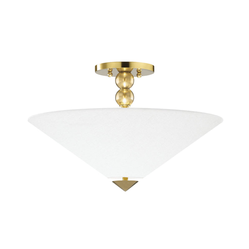 Hudson Valley Lighting 1318-AGB Flare 2 Light Flush Mount in Aged Brass