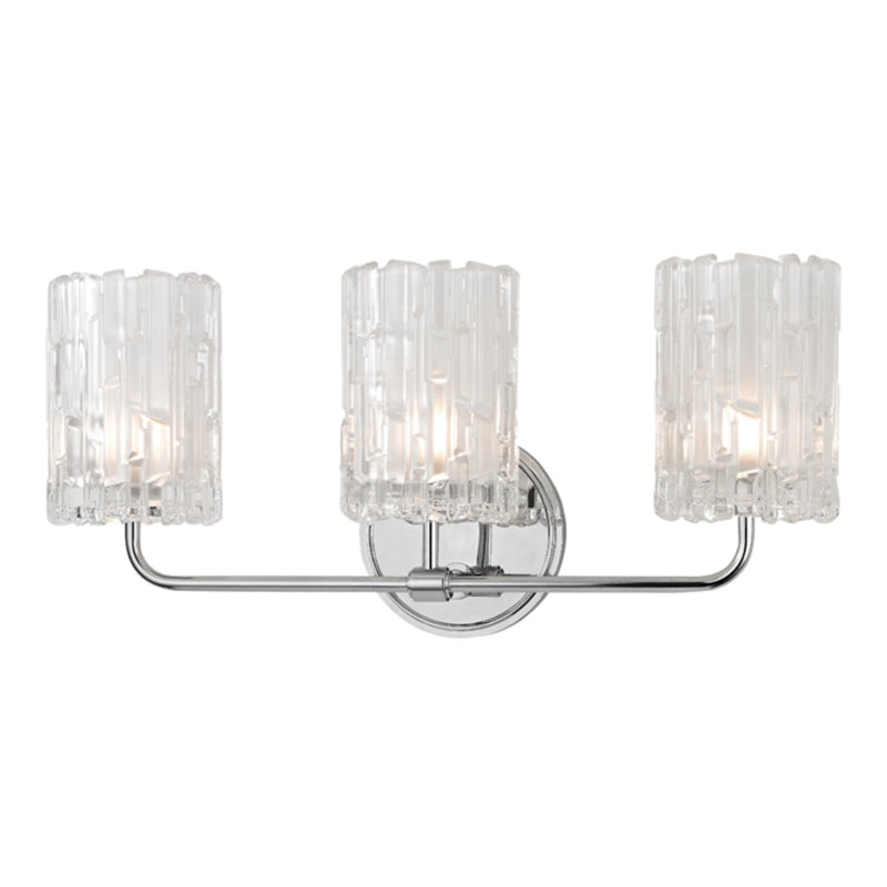Hudson Valley Lighting 1333-PC Dexter 3 Light Bath Bracket in Polished Chrome