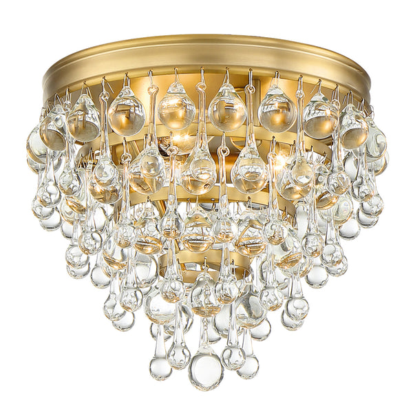 Crystorama 135-VG Calypso Ceiling Mount in Vibrant Gold