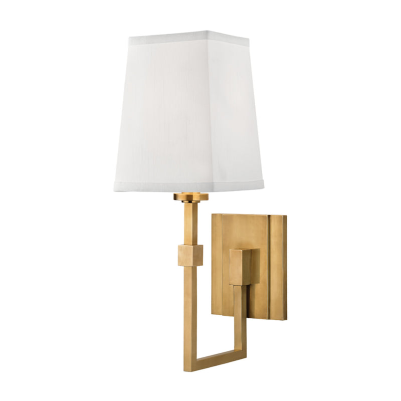Hudson Valley Lighting 1361-AGB Fletcher 1 Light Wall Sconce in Aged Brass