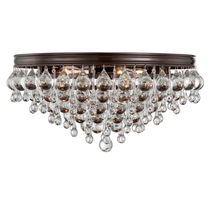 Crystorama 138-VZ Calypso Ceiling Mount in Vibrant Bronze