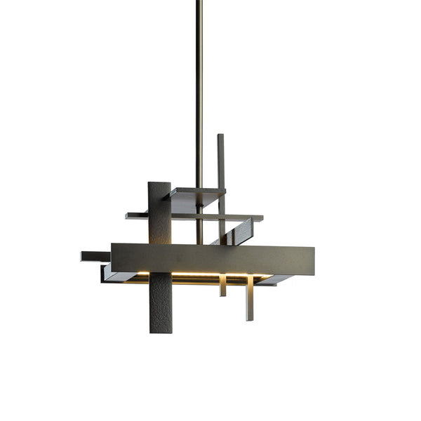 Hubbardton Forge 139718-1007 Ceiling Light Planar Small LED Pendant in Dark Smoke