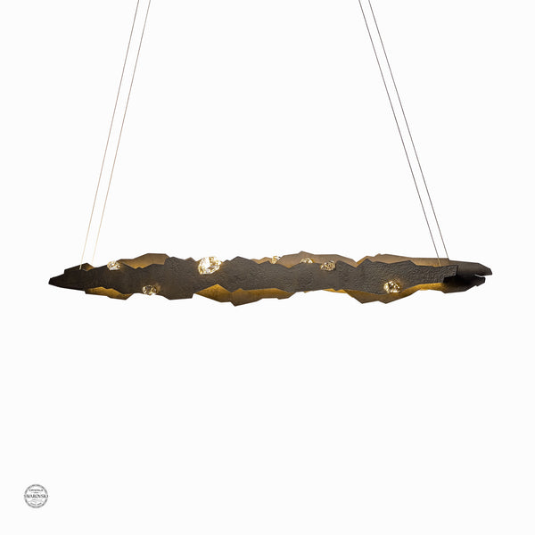 Hubbardton Forge 139860-1010 Ceiling Light Trove LED Pendant in Dark Smoke