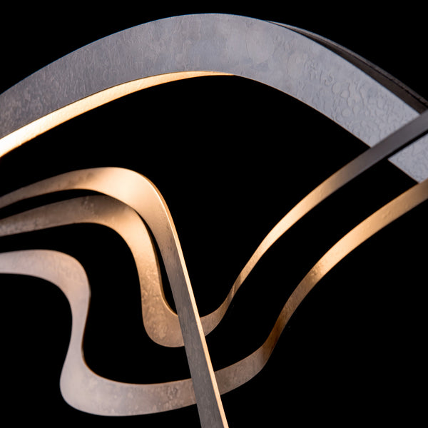 Hubbardton Forge 139905-1002 Ceiling Light Crossing Waves LED Pendant in Dark Smoke