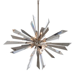 Corbett Lighting 140-47 Inertia 6lt Pendant in Hand-Worked Iron