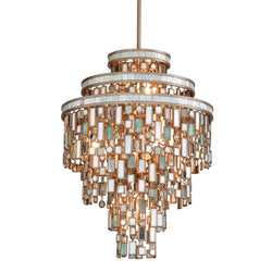 Corbett Lighting 142-47 Dolcetti 7lt Pendant in Hand-Worked Iron