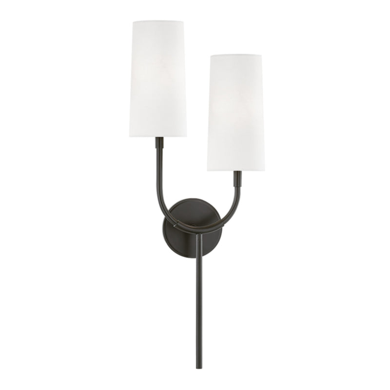 Hudson Valley Lighting 1422-OB Vesper 2 Light Wall Sconce in Old Bronze