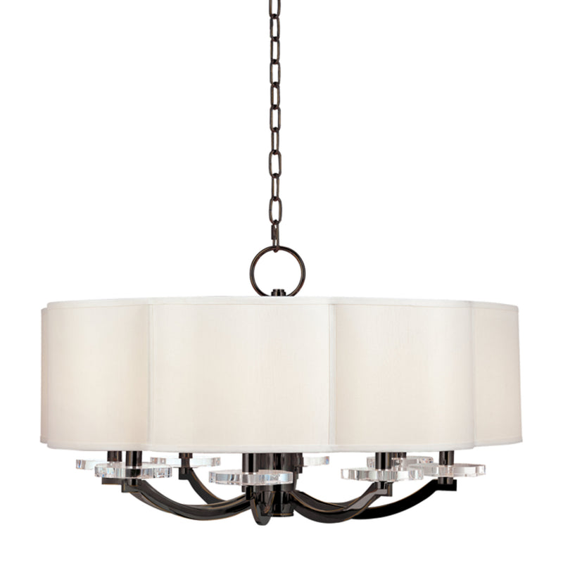 Hudson Valley Lighting 1432-OB Garrison 8 Light Chandelier in Old Bronze