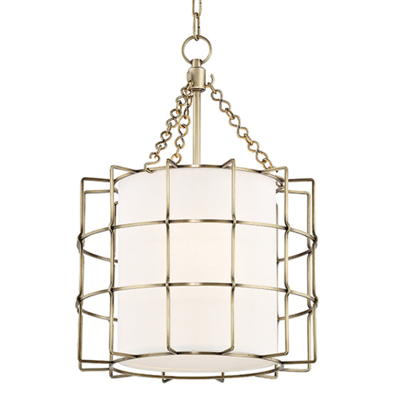 Hudson Valley Lighting 1516-AGB Sovereign 2 Light Pendant in Aged Brass