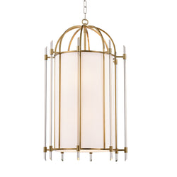 Hudson Valley Lighting 1519-AGB Delancey 8 Light Pendant in Aged Brass