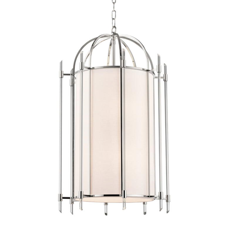 Hudson Valley Lighting 1519-PN Delancey 8 Light Pendant in Polished Nickel