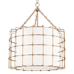 Hudson Valley Lighting 1524-AGB Sovereign 3 Light Pendant in Aged Brass