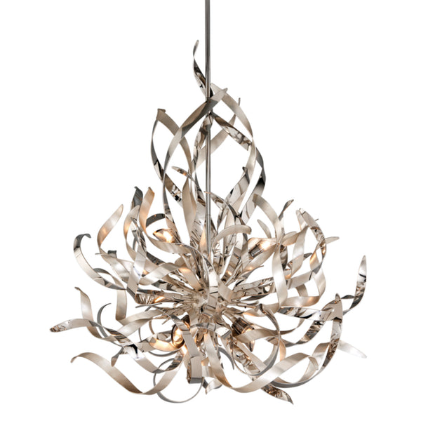 Corbett Lighting 154-46 Graffiti 6lt Pendant in Hand-Worked Iron