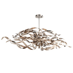 Corbett Lighting 154-56 Graffiti 6lt Linear in Hand-Worked Iron