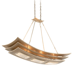Corbett Lighting 155-56 Muse 6lt Linear in Hand-Worked Iron