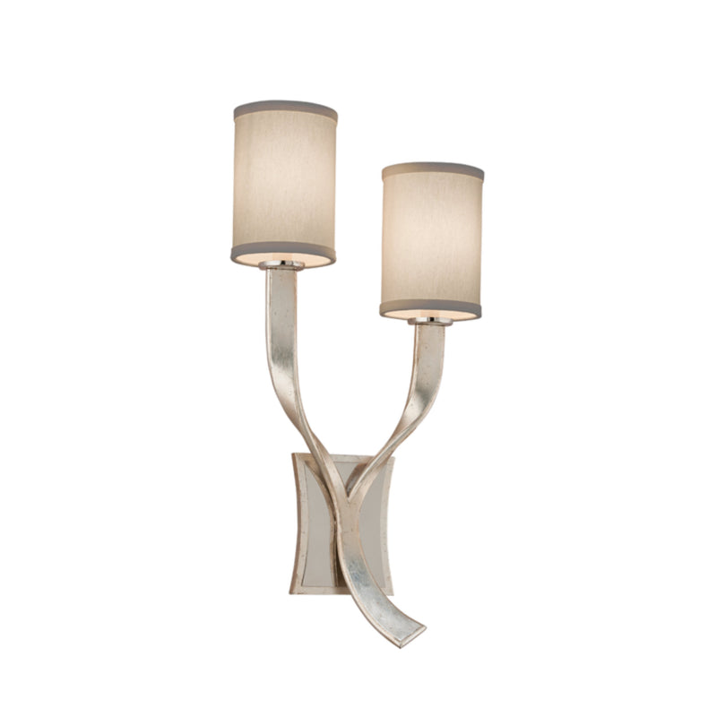 Corbett Lighting 158-11 Roxy 2lt Wall Sconce Left in Hand-Worked Iron