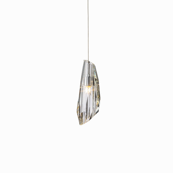Hubbardton Forge 161321-1006 Ceiling Light Luma Mini Pendant in Vintage Platinum