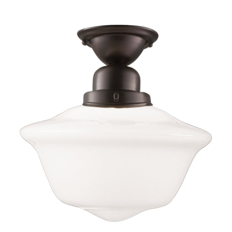 Hudson Valley Lighting 1615F-OB Edison Collection 1 Light Semi Flush in Old Bronze