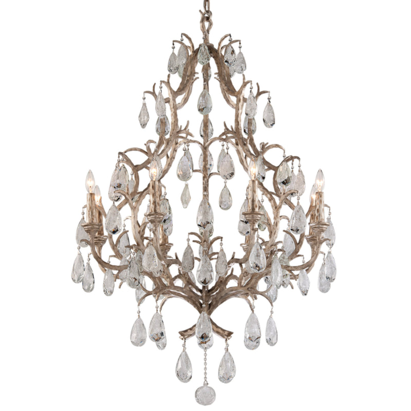 Corbett Lighting 163-08 Amadeus 8lt Chandelier in Hand-Worked Iron