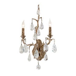 Corbett Lighting 163-12 Amadeus 2lt Wall Sconce in Hand-Worked Iron