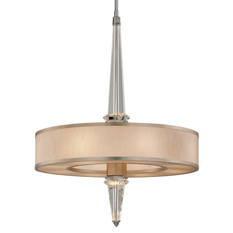 Corbett Lighting 166-48 Harlow 8 + 10lt Pendant in Hand-Worked Iron
