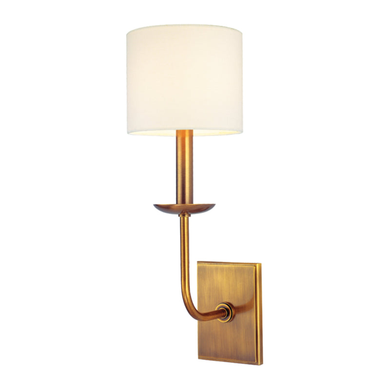 Hudson Valley Lighting 1711-AGB Kings Point 1 Light Wall Sconce in Aged Brass