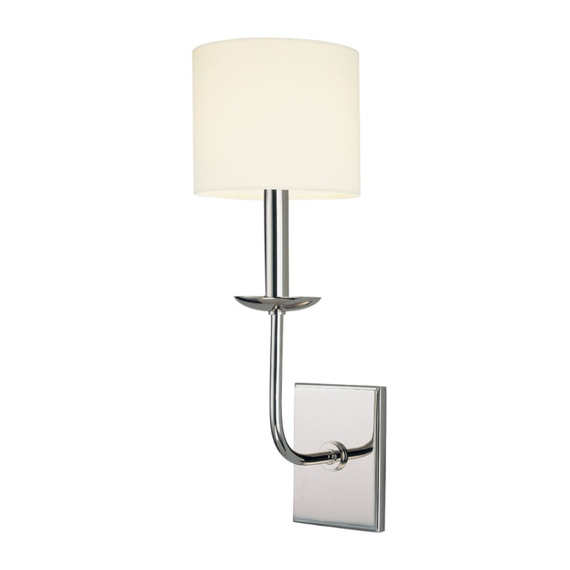 Hudson Valley Lighting 1711-PN Kings Point 1 Light Wall Sconce in Polished Nickel