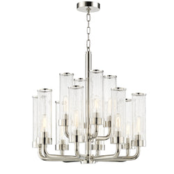 Hudson Valley Lighting 1726-PN Soriano 12 Light Chandelier in Polished Nickel