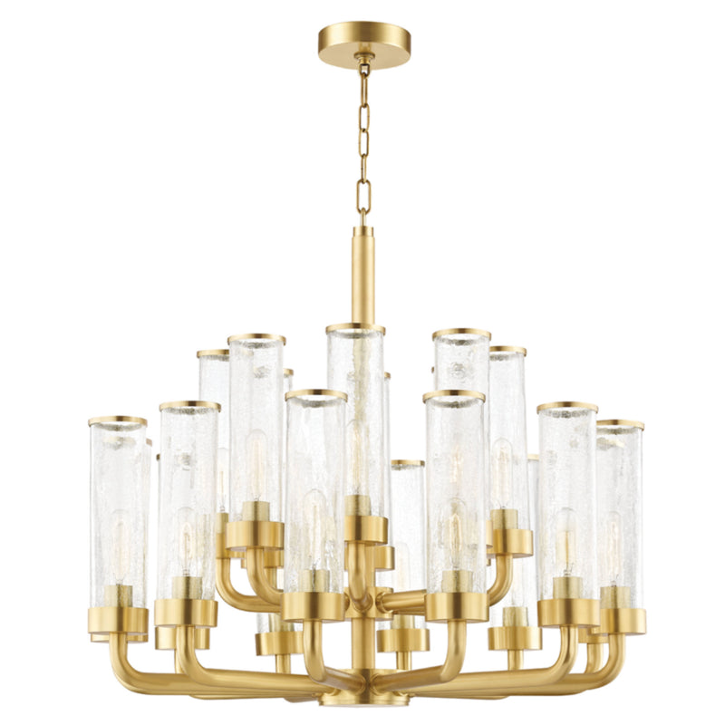 Hudson Valley Lighting 1732-AGB Soriano 20 Light Chandelier in Aged Brass