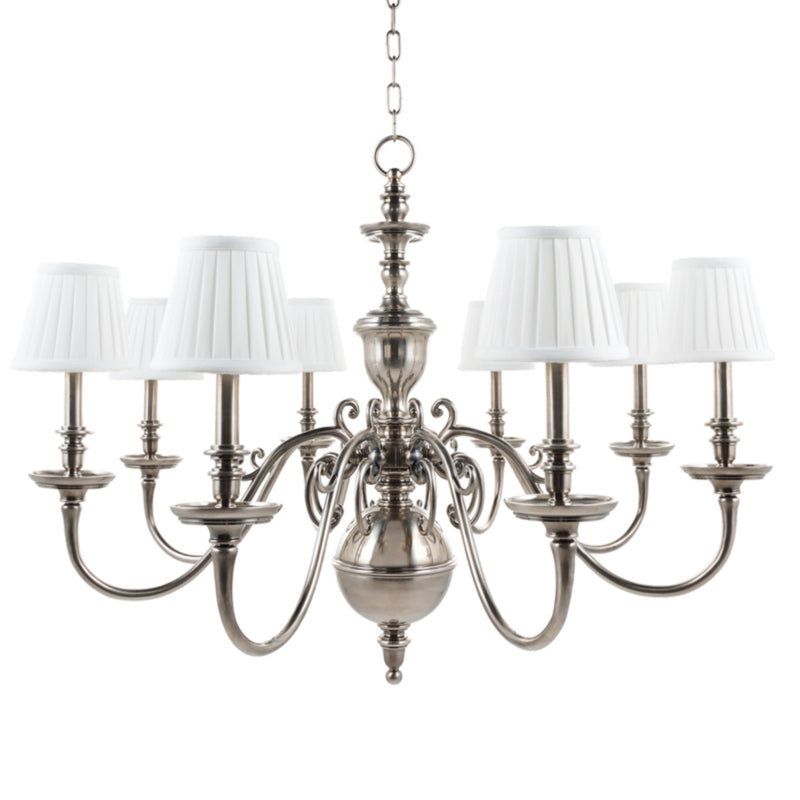 Hudson Valley Lighting 1748-HN Charleston 8 Light Chandelier in Historic Nickel