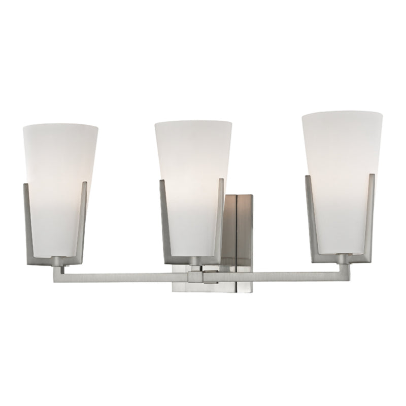 Hudson Valley Lighting 1803-SN Upton 3 Light Bath Bracket in Satin Nickel