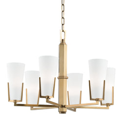 Hudson Valley Lighting 1806-AGB Upton 6 Light Chandelier in Aged Brass