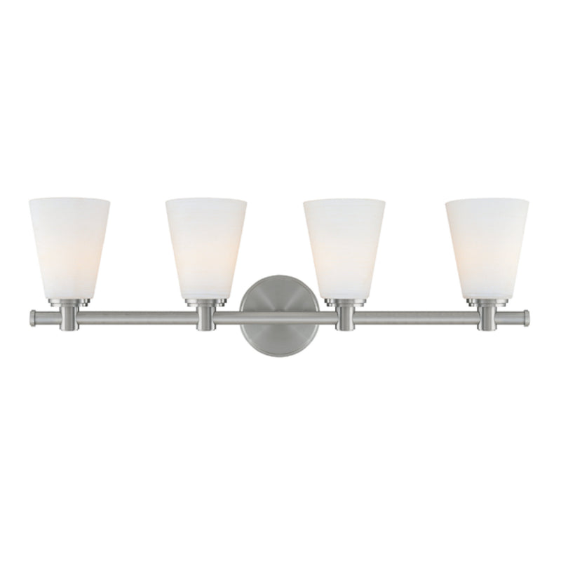 Hudson Valley Lighting 1844-SN Garland 4 Light Bath Bracket in Satin Nickel