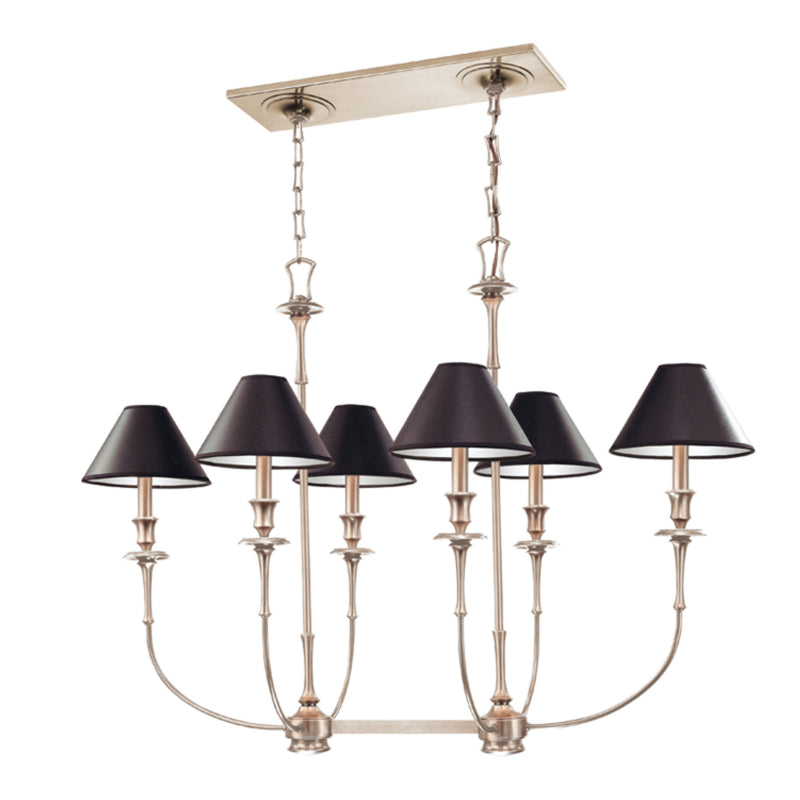 Hudson Valley Lighting 1868-AN Jasper 6 Light Island Chandelier in Antique Nickel