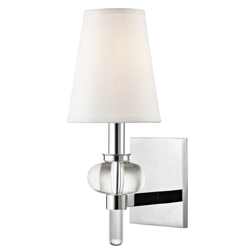 Hudson Valley Lighting 1900-PC Luna 1 Light Wall Sconce in Polished Chrome
