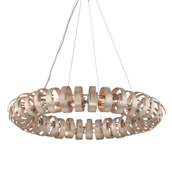 Corbett Lighting 191-415 Recoil 14lt Pendant Large in Hand-Worked Iron