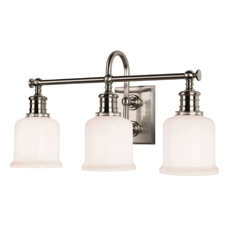 Hudson Valley Lighting 1973-SN Keswick 3 Light Bath Bracket in Satin Nickel