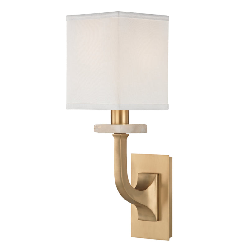 Hudson Valley Lighting 1981-AGB Rockwell 1 Light Wall Sconce in Aged Brass