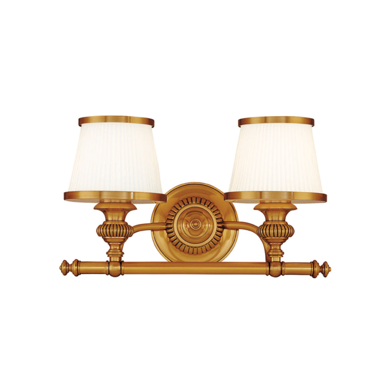 Hudson Valley Lighting 2002-FB Milton 2 Light Bath Bracket in Flemish Brass