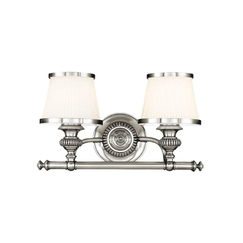 Hudson Valley Lighting 2002-PN Milton 2 Light Bath Bracket in Polished Nickel