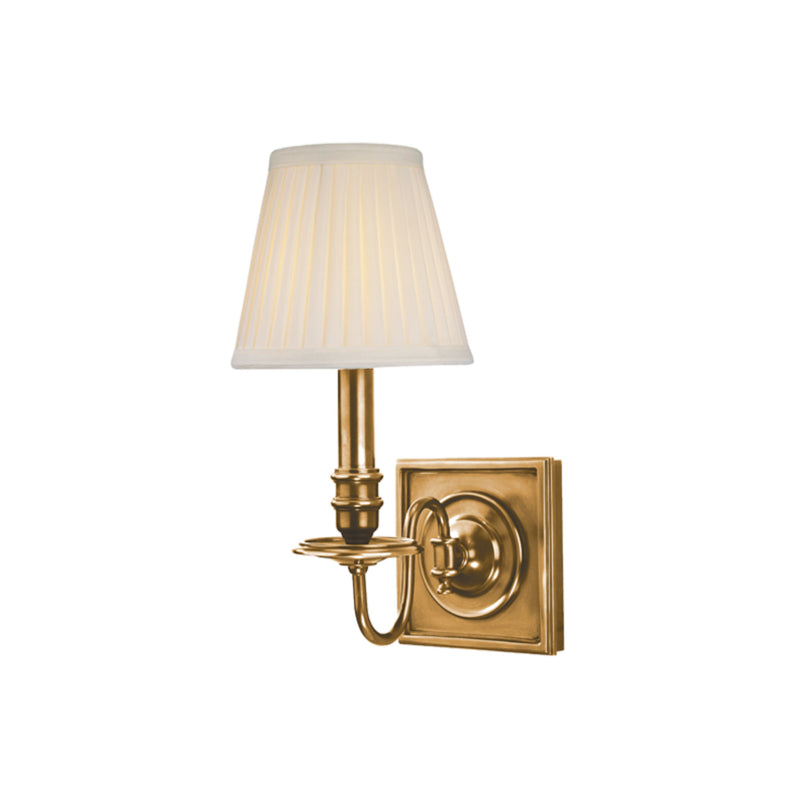 Hudson Valley Lighting 201-AGB Sheldrake 1 Light Wall Sconce in Aged Brass