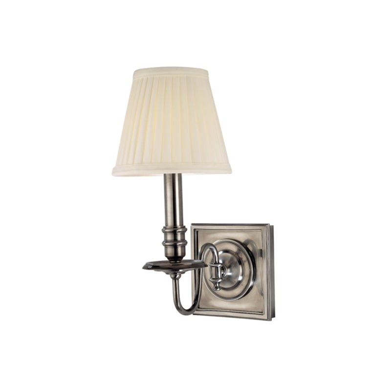 Hudson Valley Lighting 201-HN Sheldrake 1 Light Wall Sconce in Historic Nickel