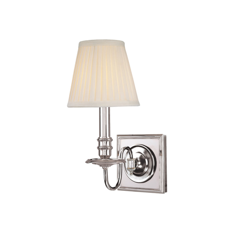 Hudson Valley Lighting 201-PN Sheldrake 1 Light Wall Sconce in Polished Nickel