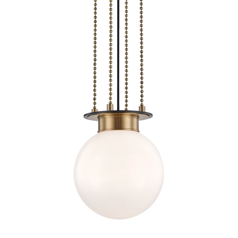 Hudson Valley Lighting 2011-AOB Gunther 1 Light Small Pendant in Aged Old Bronze