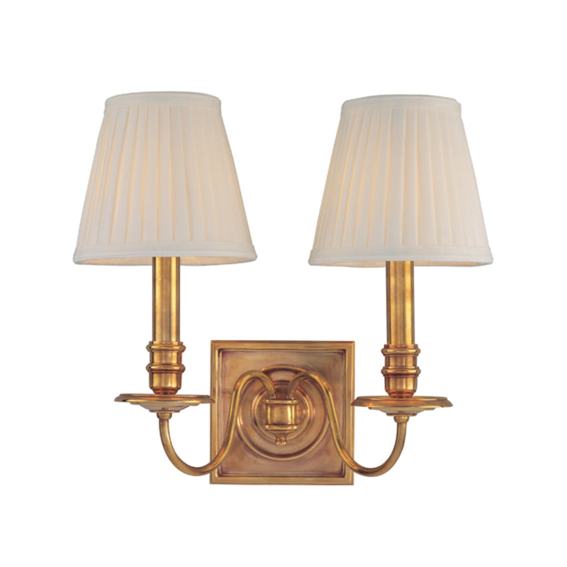 Hudson Valley Lighting 202-AGB Sheldrake 2 Light Wall Sconce in Aged Brass