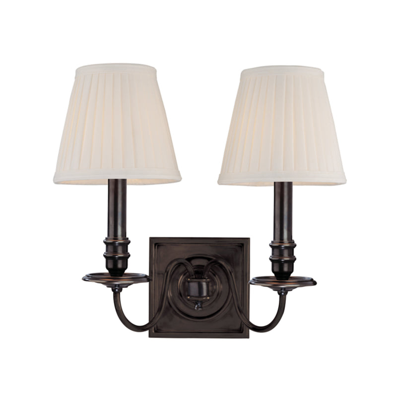 Hudson Valley Lighting 202-OB Sheldrake 2 Light Wall Sconce in Old Bronze