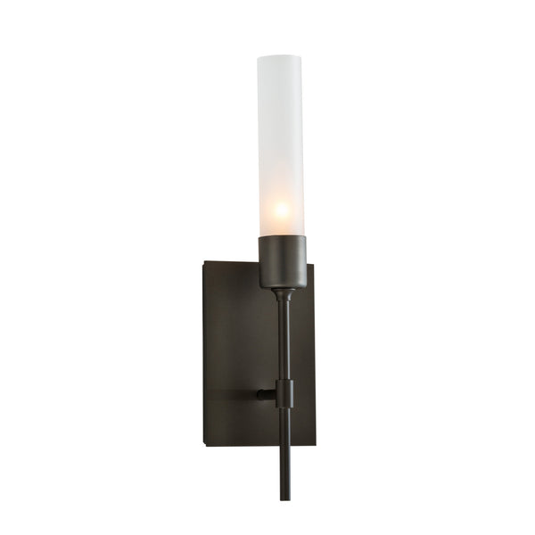 Hubbardton Forge 203330-1011 Wall Light Vela Sconce in Dark Smoke